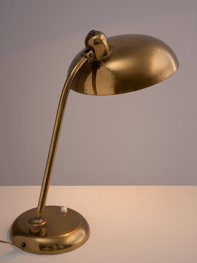 Mid-Century Modern Italian Desk Light in Brass, 1960s