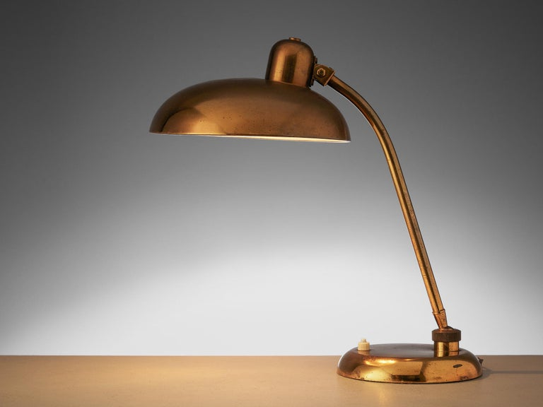 Italian Desk Light in Brass, 1960s In Good Condition For Sale In Waalwijk, NL