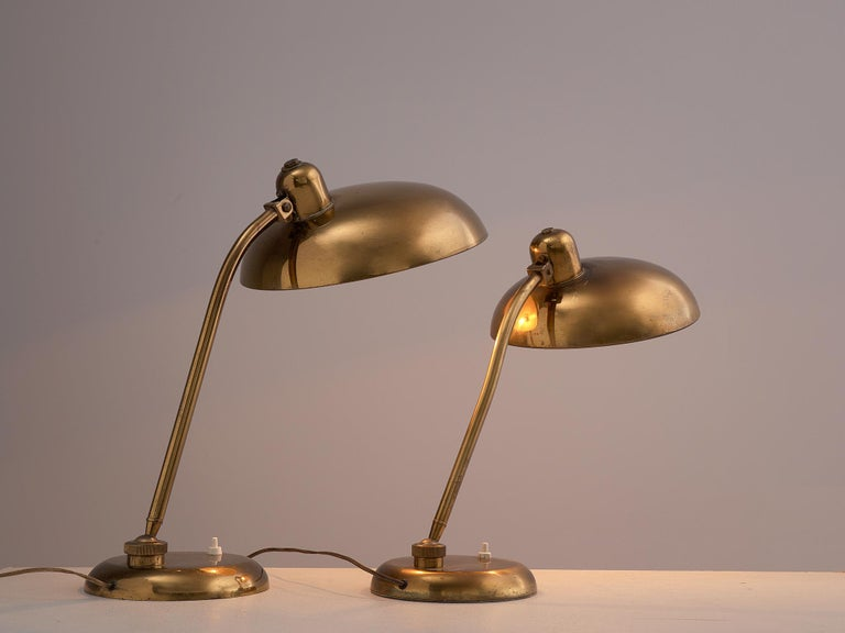 Italian Desk Light in Brass, 1960s 3