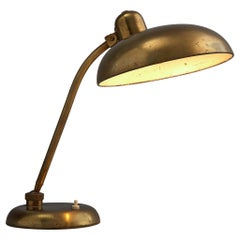 Italian Desk Light in Brass, 1960s