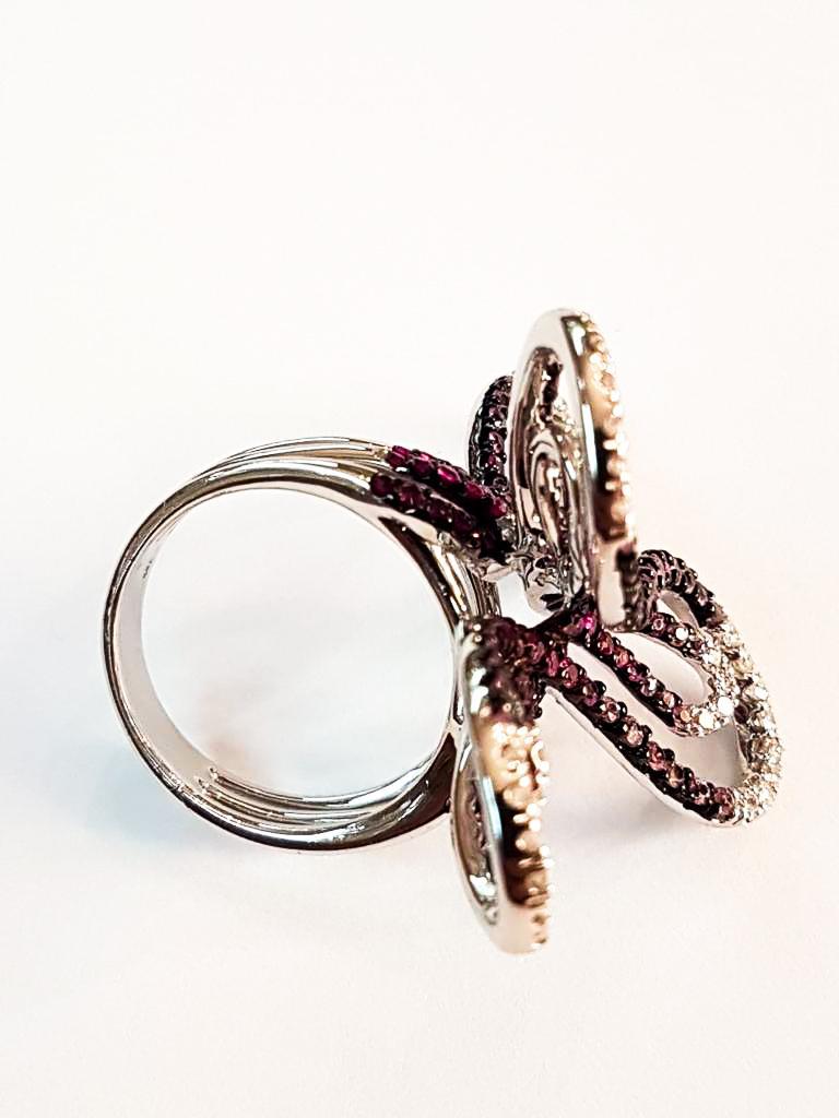 Italian Diamond and Sapphire Ring In New Condition For Sale In Cosenza, Italia