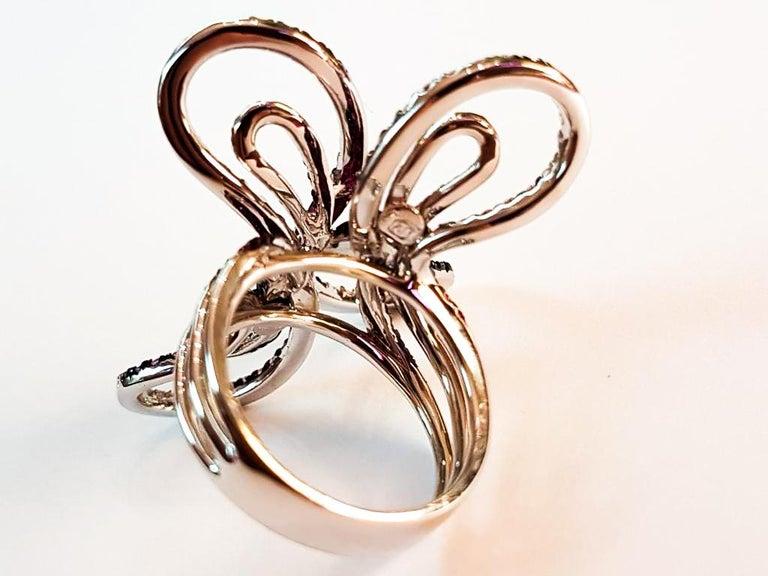Women's Italian Diamond and Sapphire Ring For Sale