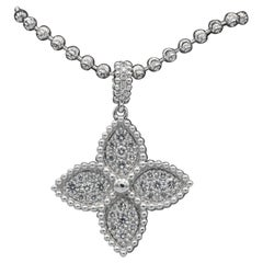 Italian Diamond Pendant 0.52 Carat 18 Karat White Gold