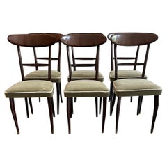 Italian Dining Chairs Attributed to Ico Parisi
