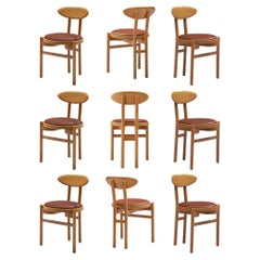 Italian Dining Chairs in Beech by Pozzi