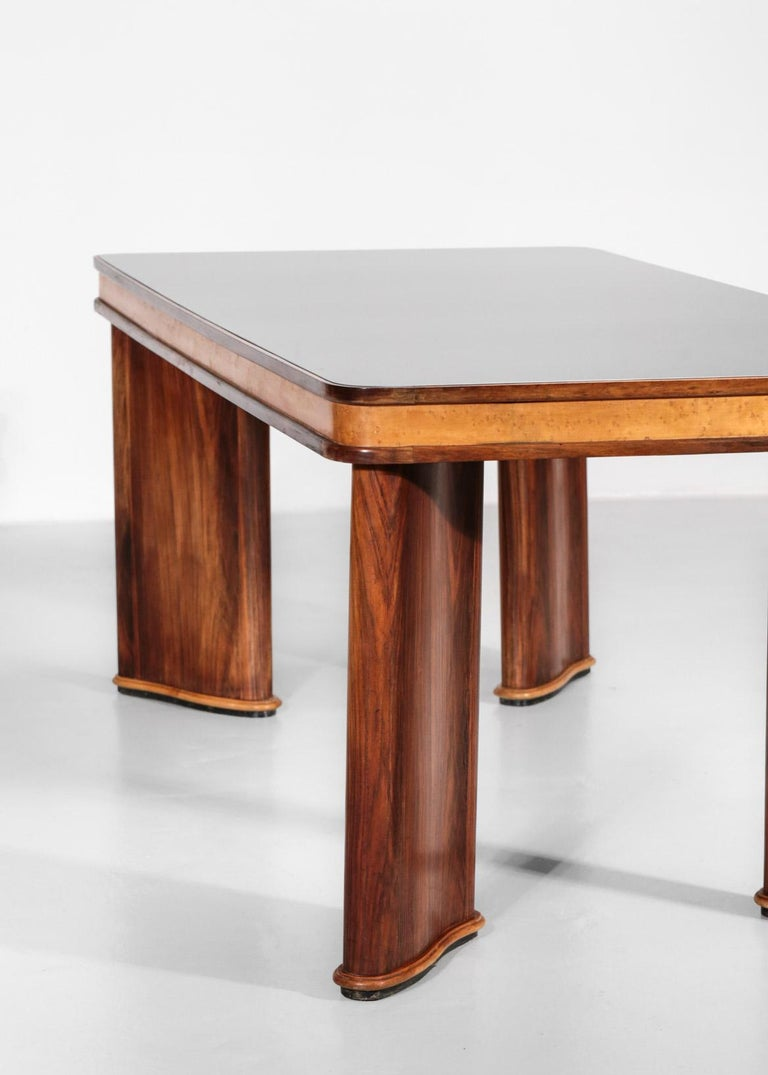Mid-Century Modern Italian Dining Table Attributed to Osvaldo Borsani, 1950s For Sale