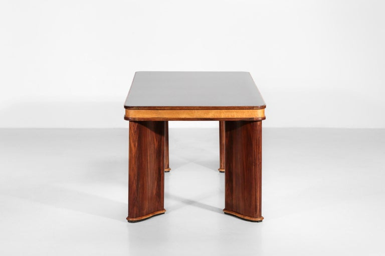 Italian Dining Table Attributed to Osvaldo Borsani, 1950s In Good Condition For Sale In Lyon, FR