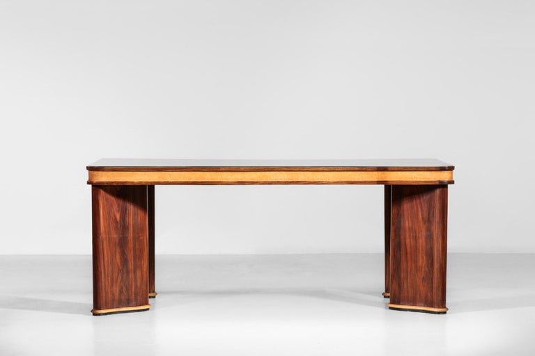 Glass Italian Dining Table Attributed to Osvaldo Borsani, 1950s For Sale