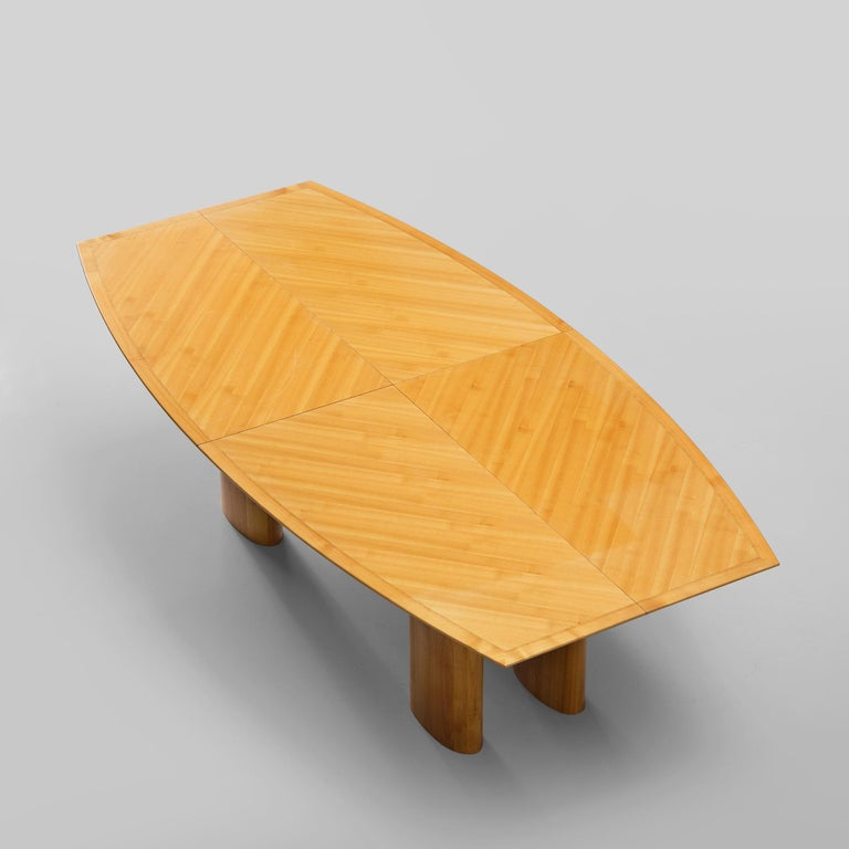Italian Dining Table with Boat Shaped Top For Sale 1