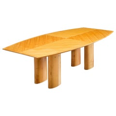 Italian Dining Table with Boat Shaped Top