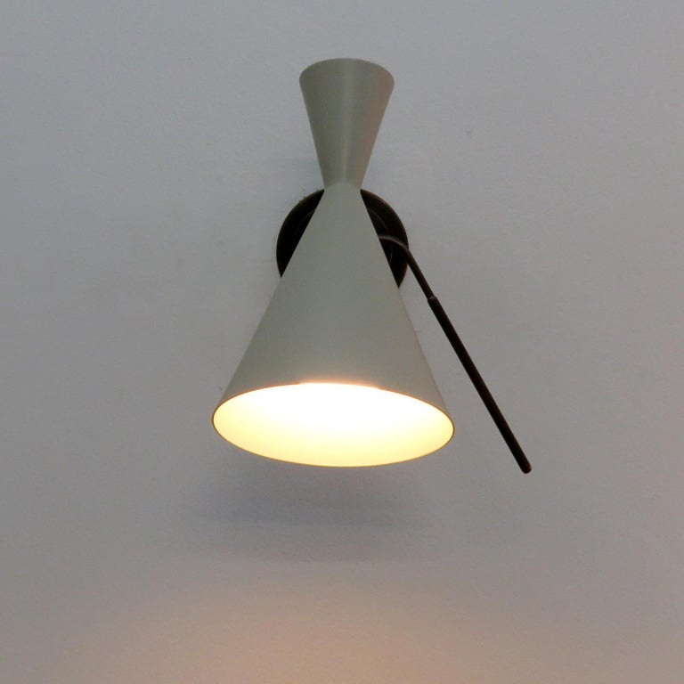 Italian Double-Cone Wall Lights For Sale 3