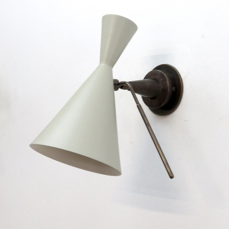 Mid-Century Modern Italian Double-Cone Wall Lights For Sale
