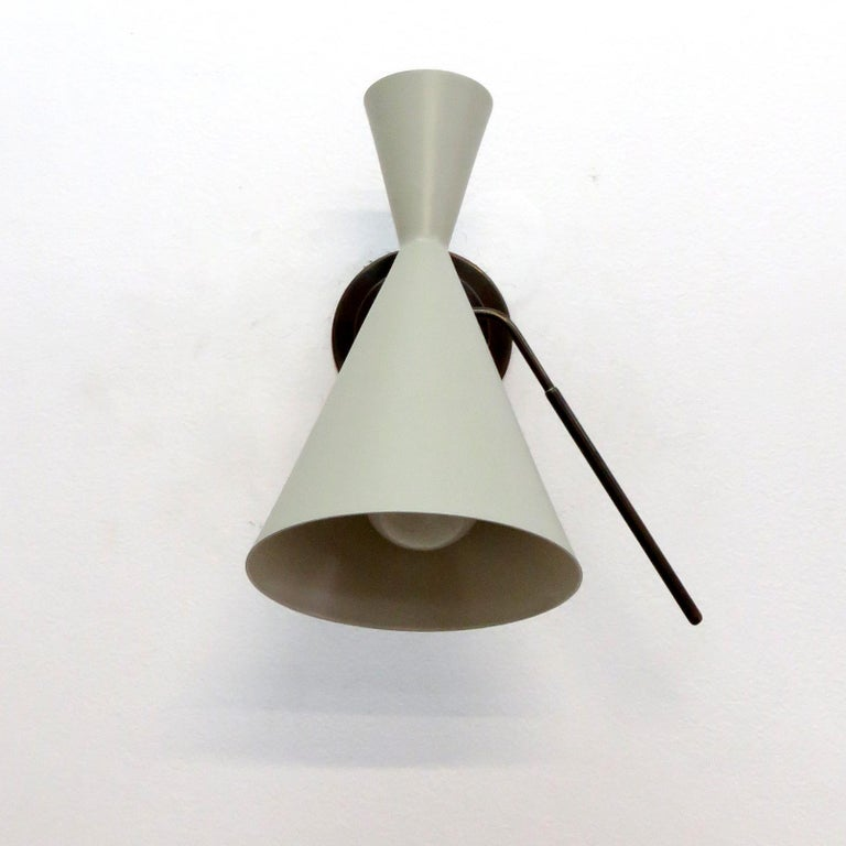 Metal Italian Double-Cone Wall Lights For Sale