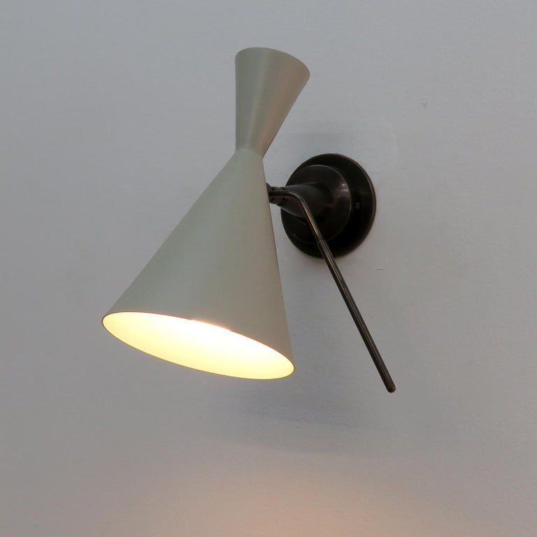 Italian Double-Cone Wall Lights For Sale 2
