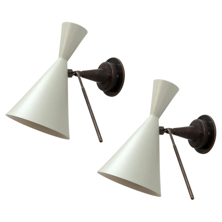 Italian Double-Cone Wall Lights For Sale