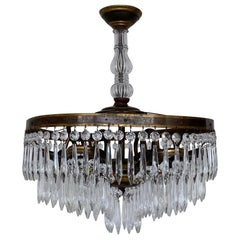 Italian Early 1900s Continental Waterfall Chandelier