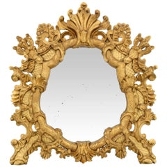 Italian Early 19th Century Baroque St. Giltwood Mirror