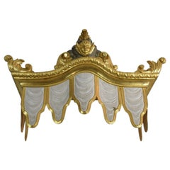 Italian Early 19th Century Baroque Style Giltwood Bed Crown/ Canapé