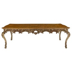 Italian Early 19th Century Louis XV St. Patinated and Mecca Dining Table