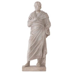 Italian Early 19th Century Marble Statue of Aeschines