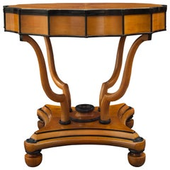 Italian Early 19th Century Neo-Classical St. Cherry and Ebony Side Table