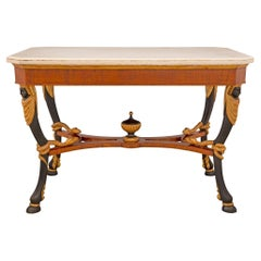 Italian Early 19th Century Neoclassical St. Center Table, from Naples