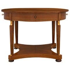 Italian Early 19th Century Neoclassical Style Walnut and Ebony Center Table