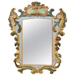 Italian Early 19th Century Rococo Style Mirror with It's Original Finish