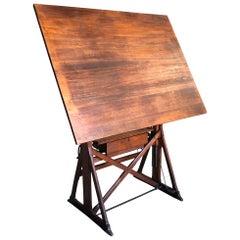 Italian Early 20th Century Architect's Table