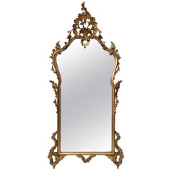 Italian Early 20th Century Carved Giltwood Wall Mirror