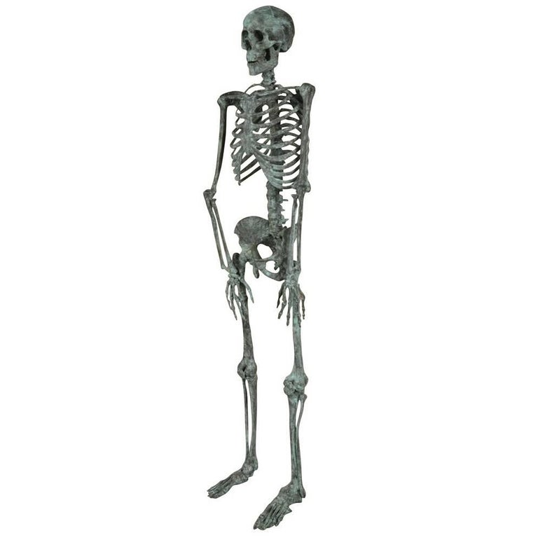 Italian Early 20th Century Skeleton Statue