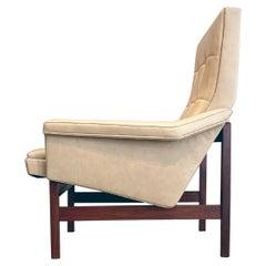 Italian Easy Chairs Soft Leather Ponti Zanuso Parisi Style Mid-Century Modern