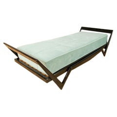 Italian Ebonized Day Bed in the Manner of Ico Parisi, circa 1950
