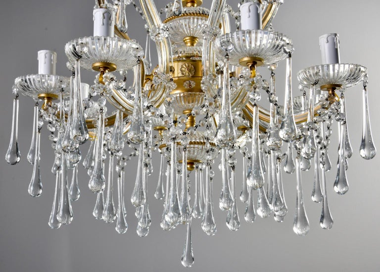 Italian Eight Light Crystal Chandelier For Sale 5