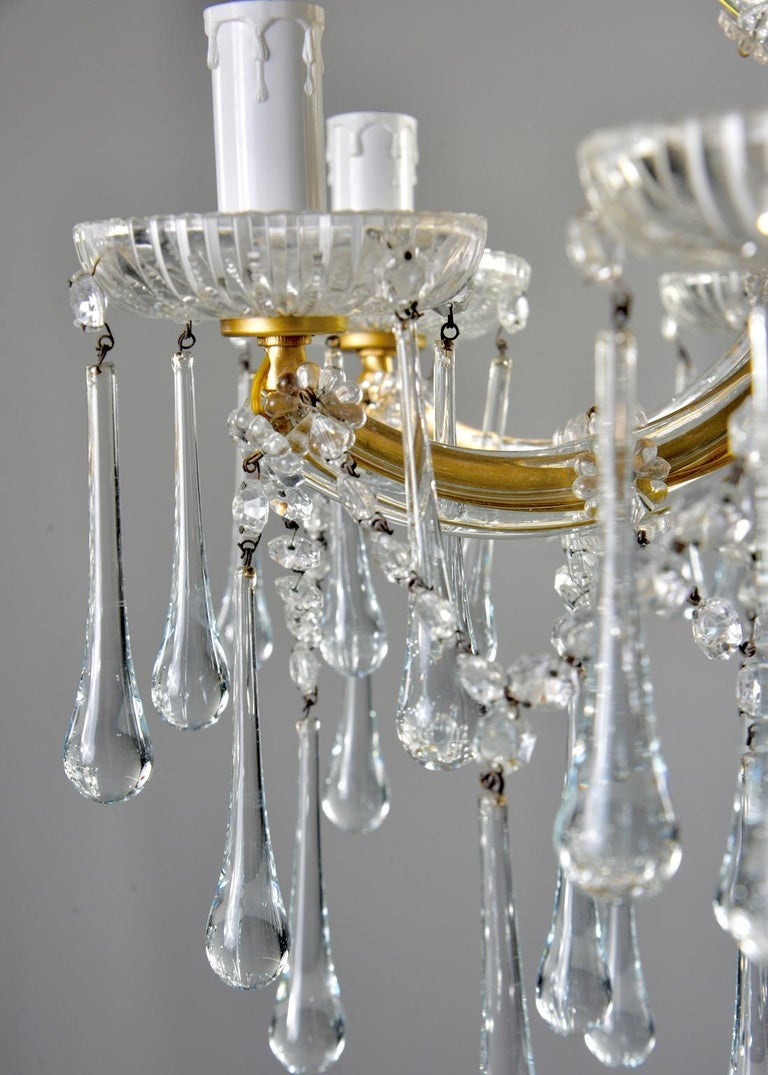 Italian Eight Light Crystal Chandelier For Sale 2