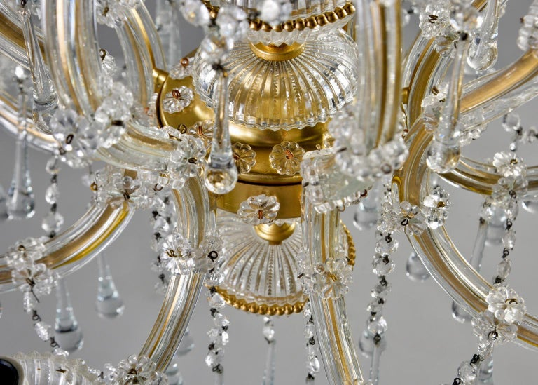 Italian Eight Light Crystal Chandelier For Sale 3