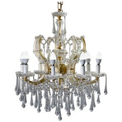 Italian Eight Light Crystal Chandelier