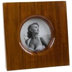 Italian Emanuele Pantanella Mahogany Picture Frame