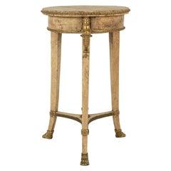 Italian Empire Burl Maple Side Table