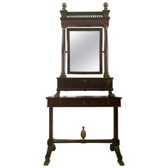 Italian Empire Neoclassical Walnut and Parcel-Gilt Secretary