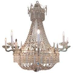 Italian Empire Stile Big Chandelier Crystalls 16 Lights to Italian Palace
