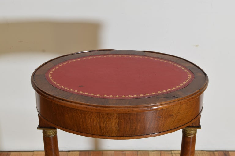 Italian Empire Style Walnut & Brass Mounted Flip-Top Occasional Table, ca. 1860 For Sale 2