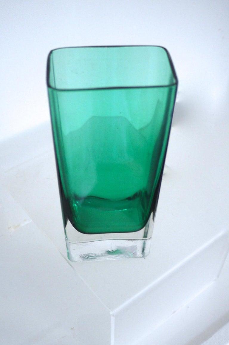 Scandinavian Modern Italian Empoli Bottle Czech Bubble Glass and Lindshammer Vase from Scandinavia
