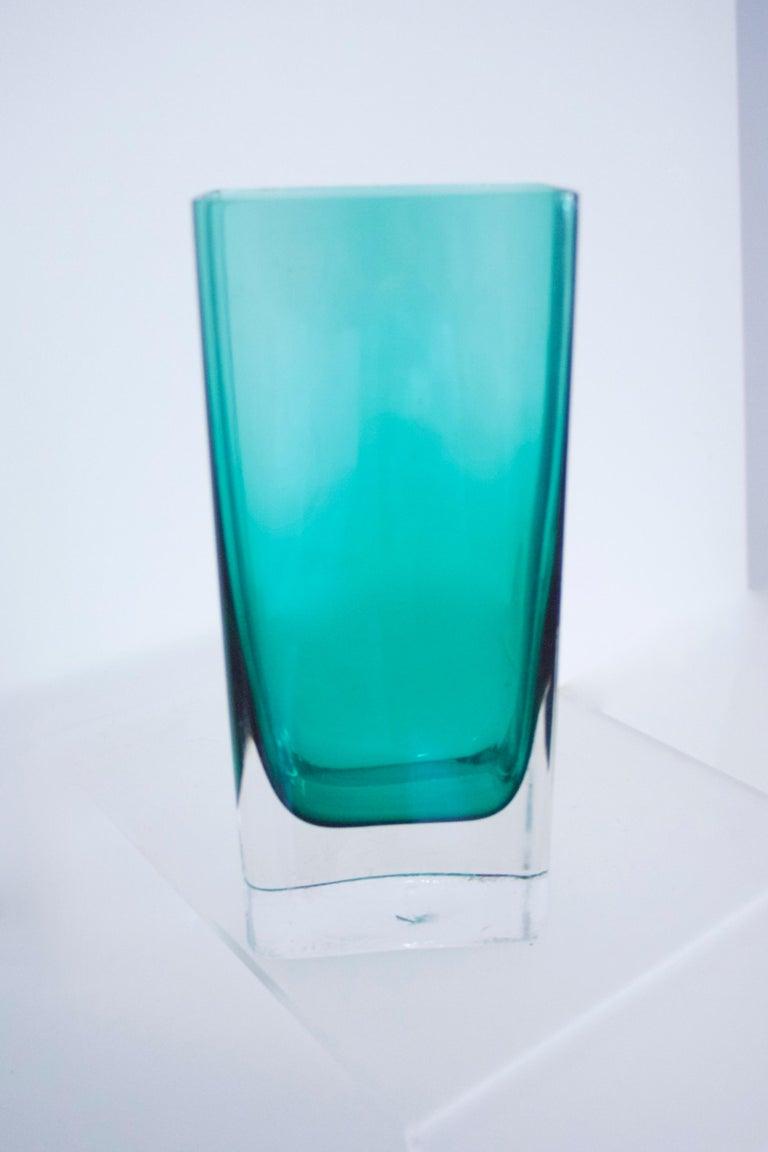Italian Empoli Bottle Czech Bubble Glass and Lindshammer Vase from Scandinavia 2