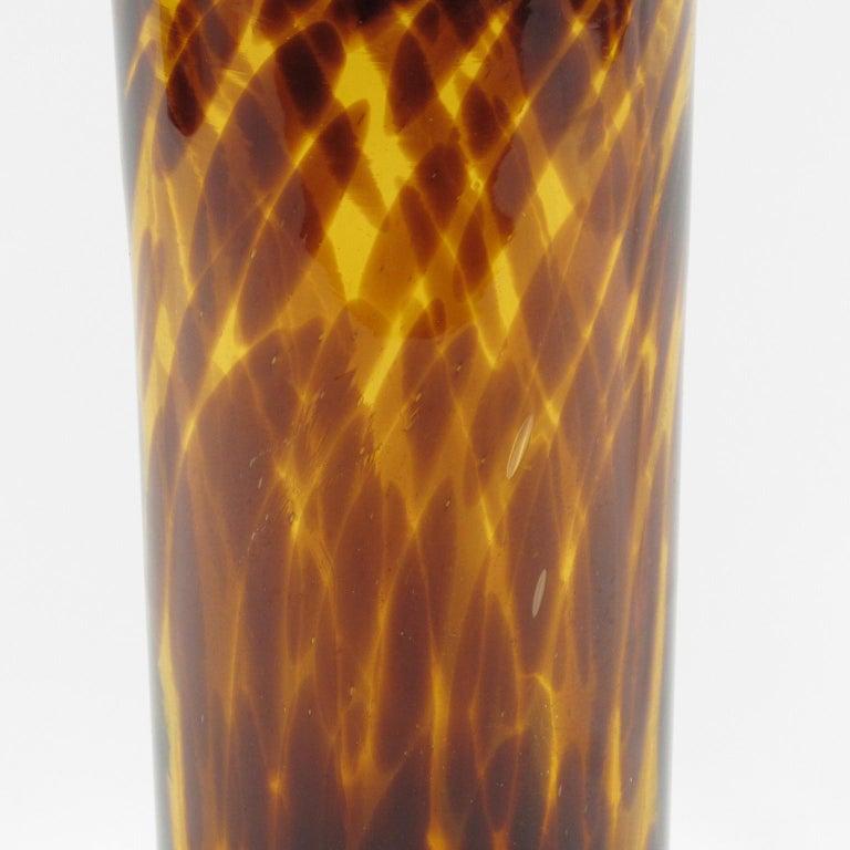 Christian Dior Tortoiseshell Glass Tumbler Vase In Excellent Condition For Sale In Atlanta, GA