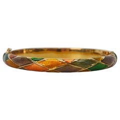 Italian Enamel Bangle Bracelet