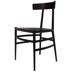 Italian Enameled Black Chair by Cappellini, 1980s