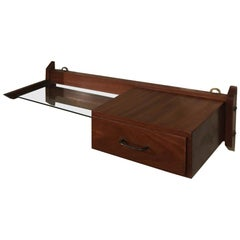 Italian Entrance Shelf with Wooden Structure, 1960s