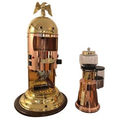 "Italian Espresso Coffee Machine and Grinder, from Elektra Model ""Belle Époque"""