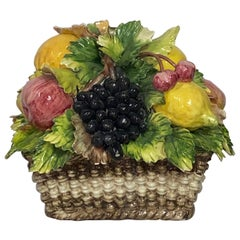 Italian Faience Porcelain Fruit Basket Capodimonte